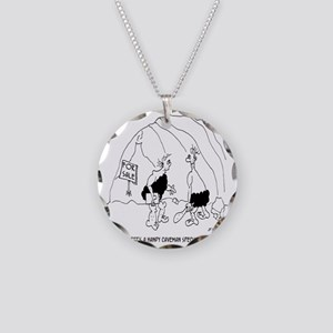 6127_real_estate_cartoon Necklace Circle Charm
